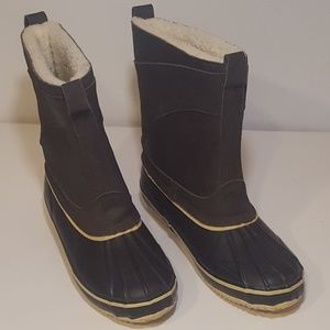 Mens Insulated Rain Boots (13) Oiled Leather Upper